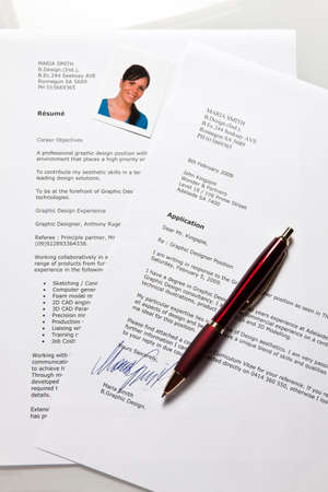 Application and CV in English Stock Photo - 4318886