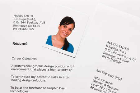Application and CV in English Stock Photo - 4318905