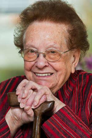 Pacjent: Stara kobieta z kij