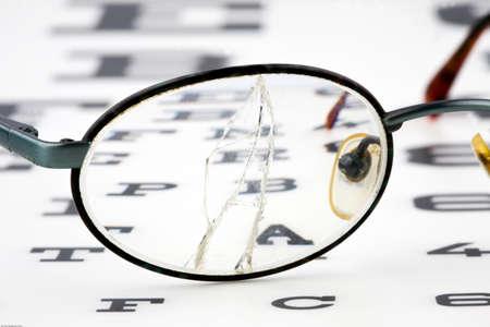 shortsightedness: Eye test by an optican