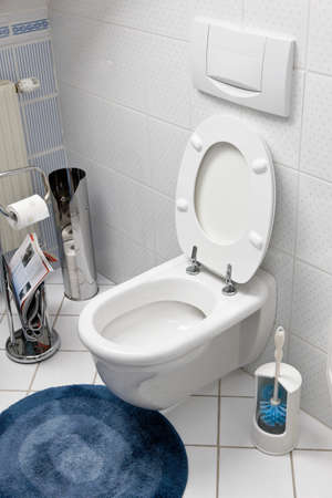 accusation: Toilet with an open toilet seat