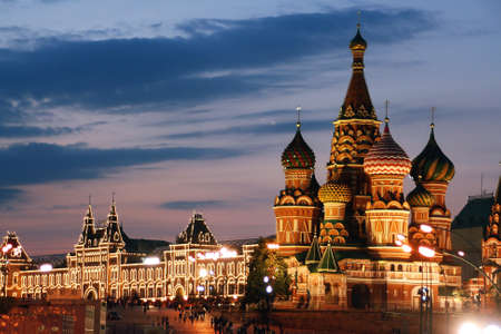Rosja, Moskwa, St Basil Cathedral, Plac Czerwony Zdjęcie Seryjne
