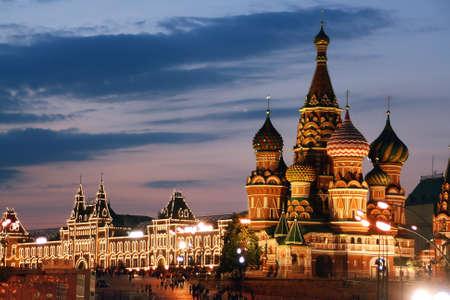 Rusland, Moskou, St. Basil kathedraal, het Rode Plein Stockfoto