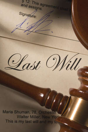 heir: Last Will -Testament Stock Photo
