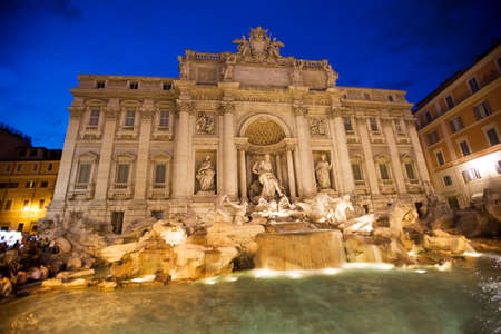 the trevi fountain in rome, italy photo