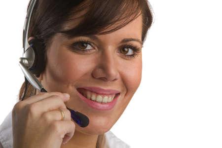 Woman with Head-Set photo