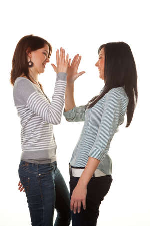 Two young girls beat and is tolerated Stock Photo - 4524041