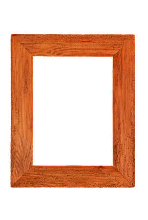 Empty wooden frame images are free on a white background photo