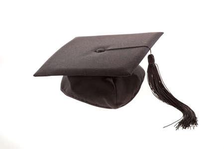 tassels: Graduation cap with tassel. Horizontally framed shot.
