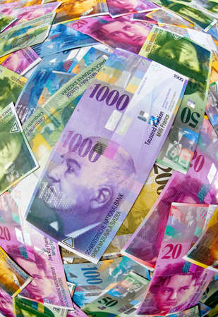 Swiss Francs, money and currency of Switzerland photo