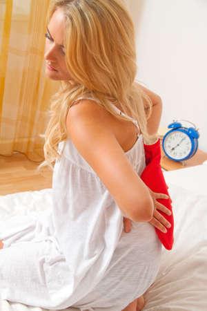 Hospital-back pain. Intervertebral disc and spinal column. photo