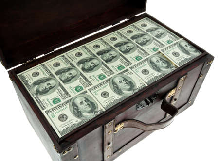 Image for photo wealth. Many American dollar bills Stock Photo - 7808425