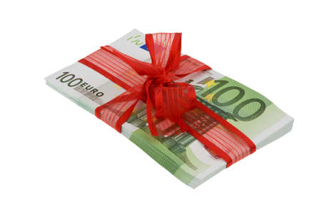 exemption: Euro banknotes with mesh. Image for monetary gifts