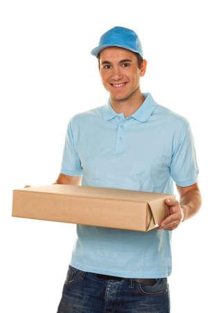 package sending: A messenger delivered by courier service parcel post