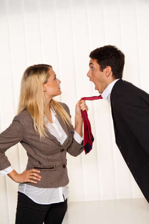 Bullying in the workplace. Aggression and conflict among colleagues. Stock Photo - 7856972