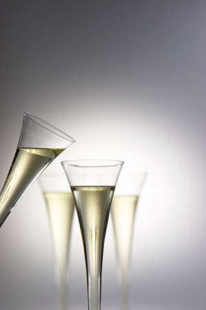 prickling: Sparkling wine or champagne glasses. Photo icon for celebrations and New Year.