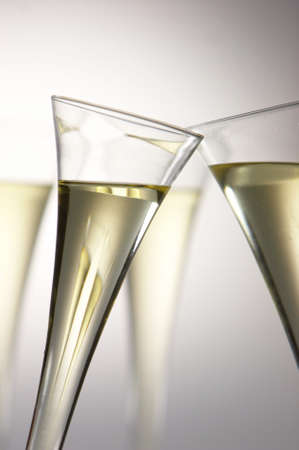 Sparkling wine or champagne glasses. Photo icon for celebrations and New Year. photo