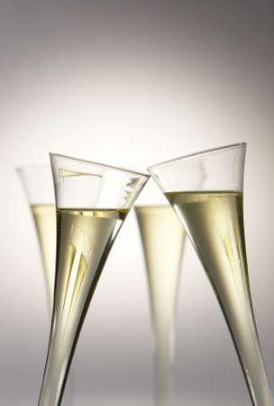 coupe de champagne: Vin mousseux ou verres de champagne. Banque d'images