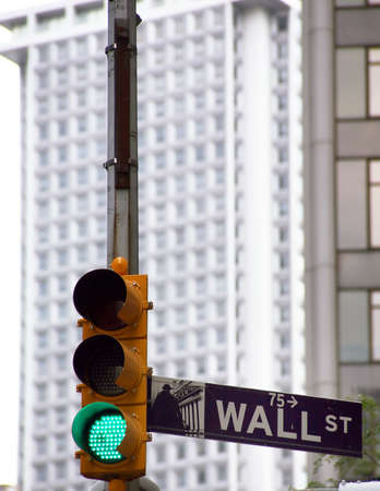 USA, New York, Wall Street, Stock Exchange. Example picture for stock and shares photo