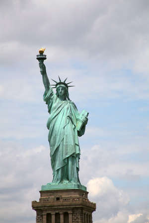 statue of liberty: USA, New York, Statue of Liberty. One of the landmarks of the city. Stock Photo