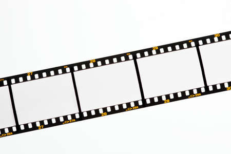 free dish: Film strips for APGVis with text space. Blank Dia 35mm film. Stock Photo