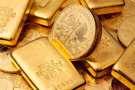 金: 金地金や金のコインよりも本物の金の投資。ファインゴールド。
