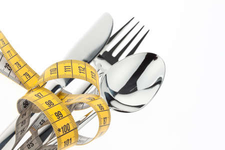 starvation: Set with tape measure. Symbolic for diet and weight loss.