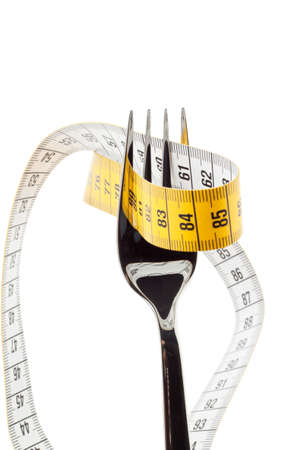 weight: Set with tape measure. Symbolic for diet and weight loss.
