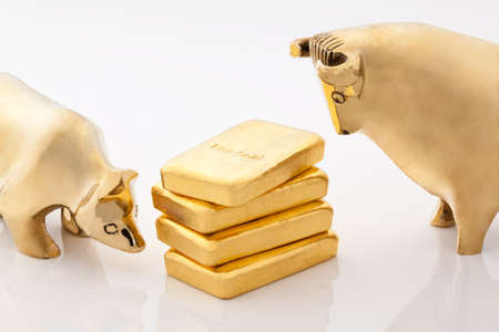 Investment in real gold than gold bullion and gold coins. Feingold. Stock Photo