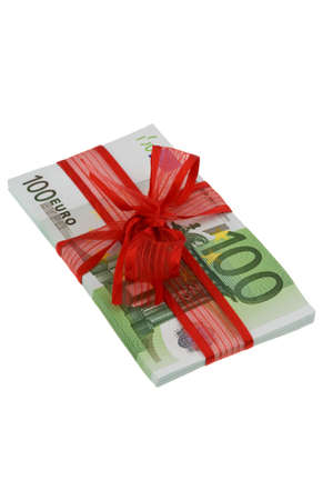 euro banknotes: Euro banknotes with mesh. Image for monetary gifts