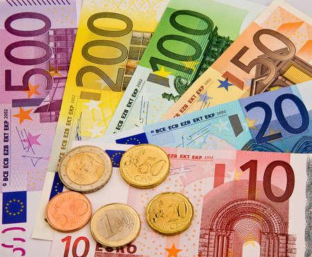 euro banknotes: Euro banknotes. Money of the European Union. Photo icon.