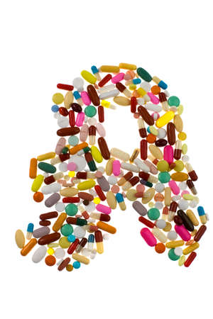generic drugs: Many different tablets and medicines are next to each other. Stock Photo