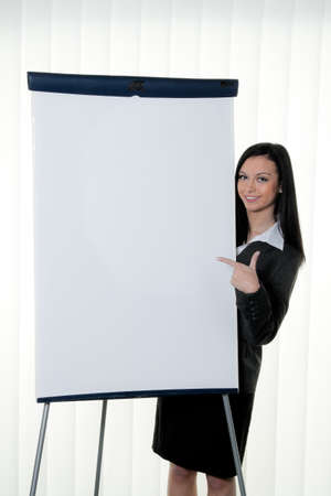 Coach before empty flipchart on education and training Stock Photo - 8007226