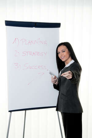 Coach flip chart in English. Training and education Stock Photo - 8007234