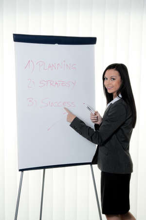 Coach flip chart in English. Training and education Stock Photo - 8007241
