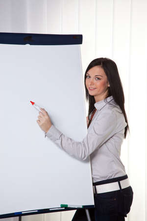 Young women in a business coaching declares success Stock Photo - 8007261