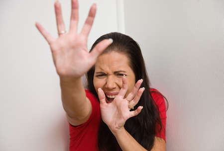 Young woman is afraid of violence in the family Stock Photo - 8007536
