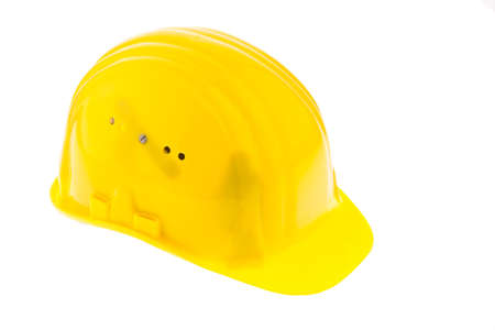 A construction worker hard hat isolated against a white background photo