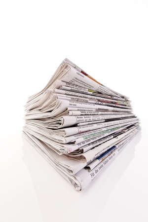 Old newspapers and magazines in a pile Stock Photo - 8363762