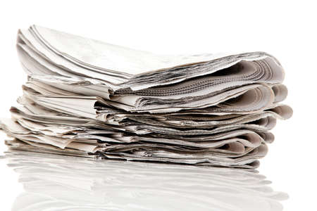 Old newspapers and magazines in a pile Stock Photo - 8408369