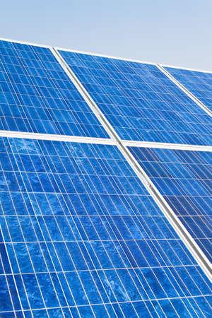 Renewable, alternative solar energy. Umwelfreundliche solar energy power plant. photo