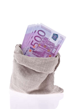 rescheduling: Many Euro banknotes of the European Union. State budget and debt Stock Photo