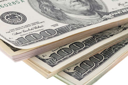 savings and loan crisis: Many dollar bills are superimposed in the stack
