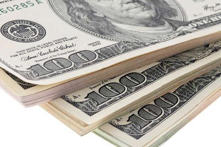 dollar bills: Molti dollar bills sono sovrapposti nello stack Archivio Fotografico
