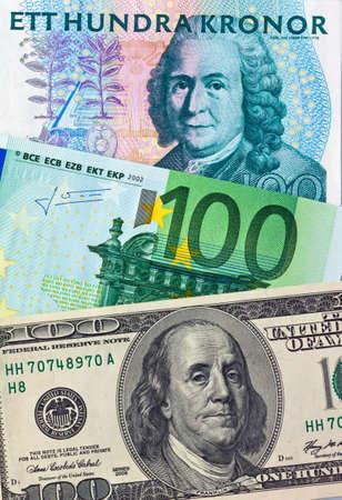 Swedish krona, the currency of Sweden. symbnol image photo