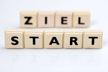 Start and Ziel.ein icon photo for success and planning photo