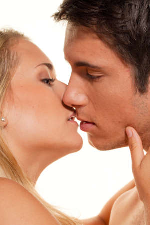 Couple has fun and joy. Love, eroticism and tenderness in everyday life. Stock Photo - 8705704
