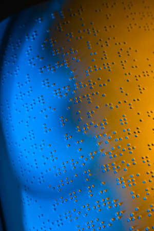 A book written in Braille. Braille for the blind. Stock Photo - 8705792