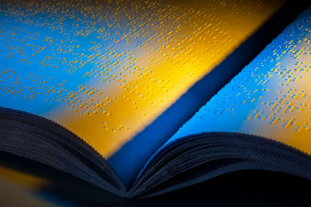 A book written in Braille. Braille for the blind. Stock Photo - 8705804