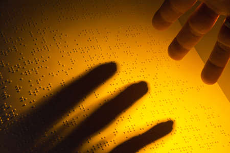 A book written in Braille. Braille for the blind. Stock Photo - 8705798